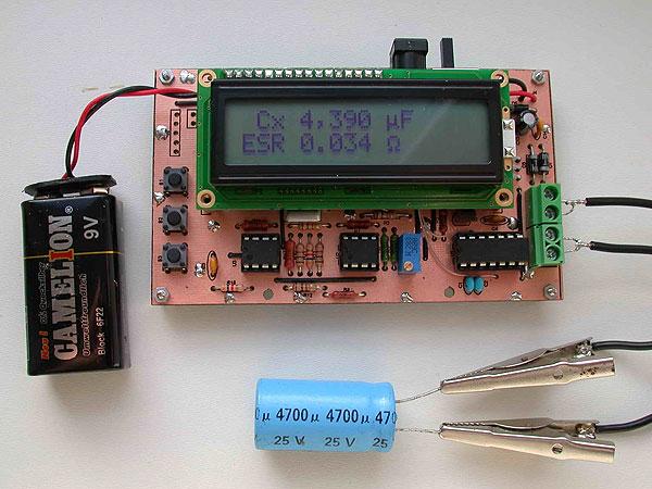 Прибор для проверки работоспособности конденсатора