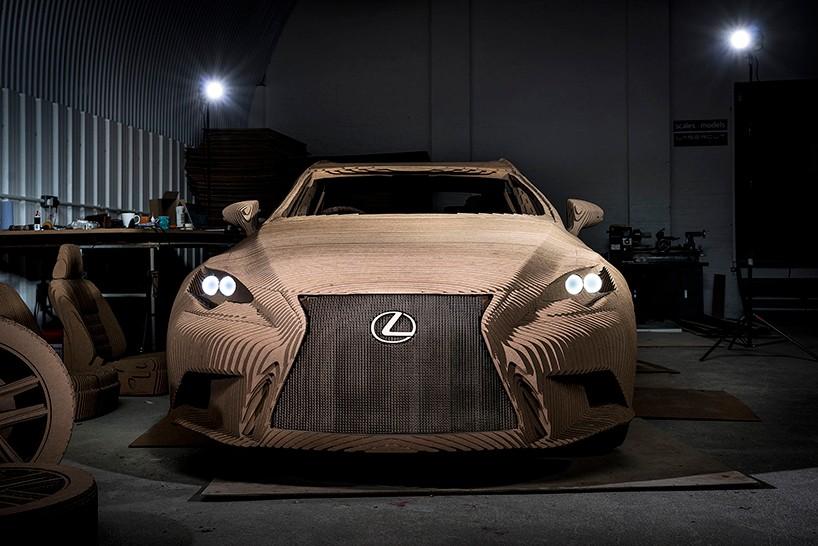 Lexus сделал автомобиль из картона на электродвигателе