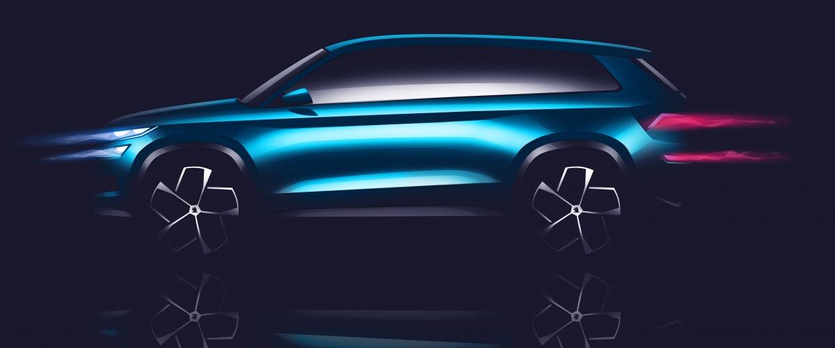 На автосалоне в Женеве Skoda представит конкурента Hyundai Santa Fe и Kia Sorento